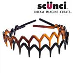 Scunci 2pc French Zig Zag Headband