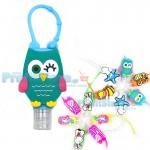 12 τμχ Μπουκαλάκια για Αντισηπτικό Gel Χεριών με Παιδικά Σχέδια - Hand Sanitizer Silicone Bottled 30mL