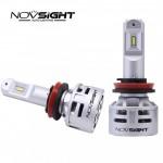 2x Λαμπτήρες LED H11 10000LM (2x5000lm) 6500K 60W (2x30w) IP68 A386 N9 NOVSIGHT Λάμπες Αυτοκινήτου 12 - 24V - Car LED Headlights