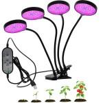 360º 4 x Φωτιστικό 60W LED Ανάπτυξης Φυτών Full Spectrum Λάμπα Θερμοκηπίου Εσωτερικού Χώρου - Plant Grow Panel Light