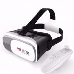 "3D Γυαλιά Εικονικής Πραγματικότητας VRBOX V2.0 για Κινητά εώς 6"" με Bluetooth Χειριστήριο"