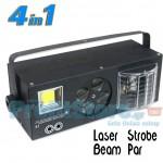 4 σε 1 LED Φωτορυθμικό με Spot Gobo, Beam LED Effects, Strobe, Laser DMX511 - Πλήρες Σετ Φωτισμού Εκδήλωσης, Γάμου, Πάρτι