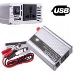 500W Inverter Αυτοκινήτου - Φωτοβολταικών Τροποποιημένου Ημιτόνου 12V σε AC 220V με USB