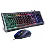 Σετ Gaming Πληκτρολόγιο & Ποντίκι Andowl με Πολύχρωμο Φωτισμό LED - Gaming Keyboard & Mouse