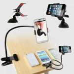Bάση με ευλύγιστο βραχίονα και κλιπ για κινητά τηλέφωνα, iPhone & GPS