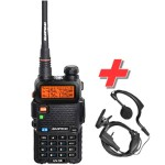 Baofeng UV-5R Φορητός Dual Band Πομποδέκτης VHF/UHF + Μικροακουστικό