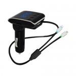 Bluetooth MP3 Player με Μικρόφωνo & Ενσωματωμένο Διπλό Καλώδιο iPhone /Android & USB Αυτοκινήτου - Car FM Transmitter