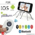 Bluetooth Remote Shutter και Βάση/Τρίποδο SpiderPodium για Φωτογραφίες Selfies