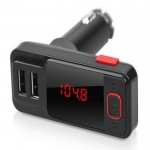 Bluetooth Αυτοκινήτου MP3 2X USB 2.1A - FM Transmitter ΒΤ719