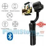 Bluetooth Χειροκίνητος Σταθεροποιητής Εικόνας & Βίντεο Κινητού - Handheld Stabilizer Gimbal 3-Axis Selfie stick με Powerbank, JoyStick, Zoom & App