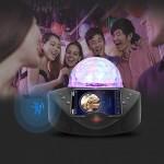 Bluetooth Φορητό Ηχοσύστημα Karaoke με 2 Ασύρματα Μικρόφωνα, Disco Crystal & USB/SD Player - 20W Μαύρο SDRD SD-308