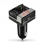 Fm Transmitter Φορτιστής Αυτοκινήτου 2 x USB,SD Bluetooth Handsfree Mp3 Player με Μικρόφωνο & AUX είσοδο - Car Kit Ανοιχτής Ακρόασης