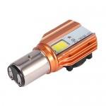 Διπολικός Λαμπτήρας - Λάμπα Μοτοσυκλέτας H6 P15D LED 6500K 20W & Ενσωματωμένο Ανεμιστήρα
