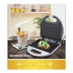 DSP® Τοστιέρα / Γκριλιέρα με Ραβδωτές Πλάκες 750W - Sandwich Maker KC1159 -  Λευκό