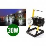 Eπαναφορτιζόμενoς Φορητός LED Προβολέας με ZOOM - 30W 2400lm