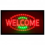 Extra Bright Φωτιζόμενη Διαφημιστική Πινακίδα WELCOME - Επιγραφές LED με Εφέ Κίνησης
