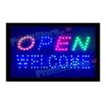 Extra Bright Φωτιζόμενη Διαφημιστική Πινακίδα OPEN WELCOME - Επιγραφές LED με Εφέ Κίνησης