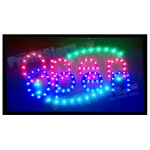 Extra Bright Φωτιζόμενη Διαφημιστική Πινακίδα OPEN- Επιγραφές LED με Εφέ Κίνησης
