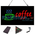 Extra Bright Φωτιζόμενη Διαφημιστική Πινακίδα COFFEE - Επιγραφή LED Epoxy Resin