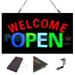 Extra Bright Φωτιζόμενη Διαφημιστική Πινακίδα WELCOME OPEN - Επιγραφή LED Epoxy Resin