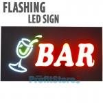 Extra Bright Φωτιζόμενη Αναλαμπών Διαφημιστική Πινακίδα Bar - Flashing Επιγραφή LED Ταμπέλα