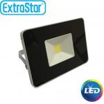 Extra Slim Προβολέας LED ExtraStar 10W με Ψυχρό Φως