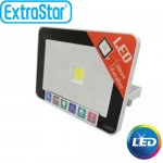 Extra Slim Προβολέας LED ExtraStar 10W με Θερμό Φως