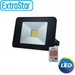 Extra Slim Προβολέας LED ExtraStar 20W με Ψυχρό Φως και Χειριστήριο
