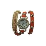 Fashion Woman Watch - Μοντέρνο Γυναικείο Ρολόι Βραχιόλι με Δερμάτινο Λουράκι 2172