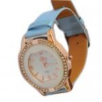 Fashion Woman Watch - Μοντέρνο Γυναικείο Ρολόι με Δερμάτινο Λουράκι με Στρας 2180