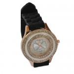 Fashion Woman Watch - Μοντέρνο Γυναικείο Ρολόι με Στρας και Λουράκι Σιλικόνης 2176