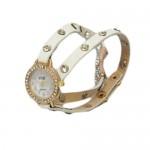 Fashion Woman Watch - Μοντέρνο Γυναικείο Ρολόι Βραχιόλι με Δερμάτινο Λουράκι 2182