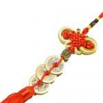Feng Shui Γούρι Πλούτου με 3 Κινέζικα Νομίσματα