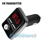 Fm Transmitter Φορτιστής Αυτοκινήτου 2 x USB, SD Bluetooth Handsfree Mp3 Player με Μικρόφωνο - Car Kit Ανοιχτής Ακρόασης