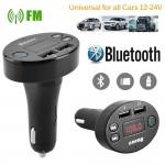 Fm Transmitter Φορτιστής Αυτοκινήτου 2 x USB,SD Bluetooth Handsfree Mp3 Player με Μικρόφωνο & AUX είσοδο - Car FM Modulator