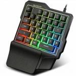 Φορητό Gaming Πληκτρολόγιο RGB One Handed USB με Πολύχρωμο Φωτισμό LED - Single Hand Keyboard