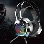 Gaming Ακουστικά Moxom Extra Over Ear 3D Surround USB Jack 3,5mm με Πολύχρωμο LED Φωτισμό & Ρυθμιζόμενο Μικρόφωνο - Ενσύρματα PC & PS4 Headset