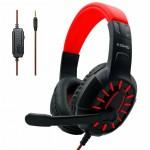 Gaming Ρυθμιζόμενα - Ελαστικά Ακουστικά Κεφαλής με Μικρόφωνο Jack 3,5mm On Ear για Υπολογιστή - Ενσύρματα PC& PS4 Headset Κόκκινο