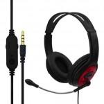 Gaming Ρυθμιζόμενα Ακουστικά Κεφαλής με Μικρόφωνο Jack 3,5mm On Ear για Υπολογιστή - Ενσύρματα PC& PS4 Headset Κόκκινο