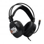 Gaming Ακουστικά Headset Φ50mm, Οver Ear, με Πορτοκαλί Φωτισμό LED & Μικρόφωνο για PS4, PC, Laptop, Smartphone & Tablet Moxom MX-EP23 GM USB – Μαύρο