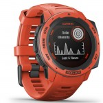 Garmin Ρολόι Instinct Solar Flame Red GPS - Αθλητικό Smartwatch Activity Tracker