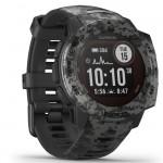 Garmin Ρολόι Instinct Solar Graphite Camo GPS - Αθλητικό Smartwatch Activity Tracker