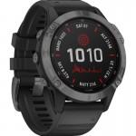 Garmin Ρολόι Fenix 6 Pro Solar Slate Gray & Black Band - Smartwatch Γκρι / Μαύρο