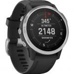 Garmin Ρολόι Fenix 6S Silver with Black Band - Ανθεκτικό Smartwatch Ασημένιο με Μαύρο