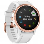 Garmin Ρολόι Fenix 6S PRO Rose Gold-tone with White Band - Ανθεκτικό Smartwatch με MP3