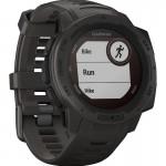 Garmin Ρολόι Instinct Solar Graphite GPS - Αθλητικό Smartwatch Activity Tracker