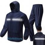 HeavyWeight Αδιάβροχο Αντιανεμικό Αντοχής με Αντανακλαστικό & Τσέπες για την Μηχανή ή Αγροτικές Δουλειές - Σετ Παντελόνι & Ζακέτα