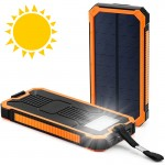 Heavy Duty Ηλιακό Powerbank & Φακός LED - Φορητή Μπαταρία Φορτιστής & Φωτιστικό Επιβίωσης με Ηλιακό Πάνελ Υψηλής Ισχύος 2A - Solar USB Charger