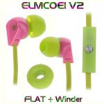 In-ear Flat Earphone Headset 3.5mm for Iphone, Ipad, Ipod & Smartphones