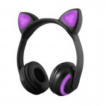 LED Bluetooth Ασύρματα On-Ear Ακουστικά Αυτιά Γάτας με Εναλλασσόμενο Φωτισμό - Wireless Cat Ear Headphones
